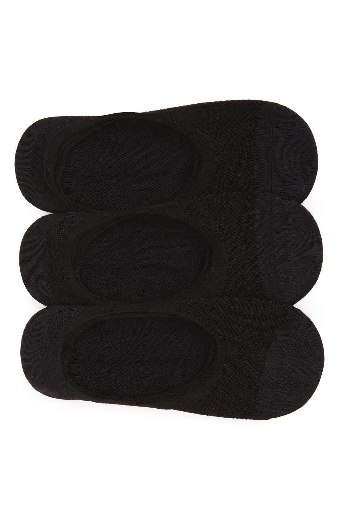 All Sport Lite 3-Pack No-Show Socks,                         Main,                         color, Black