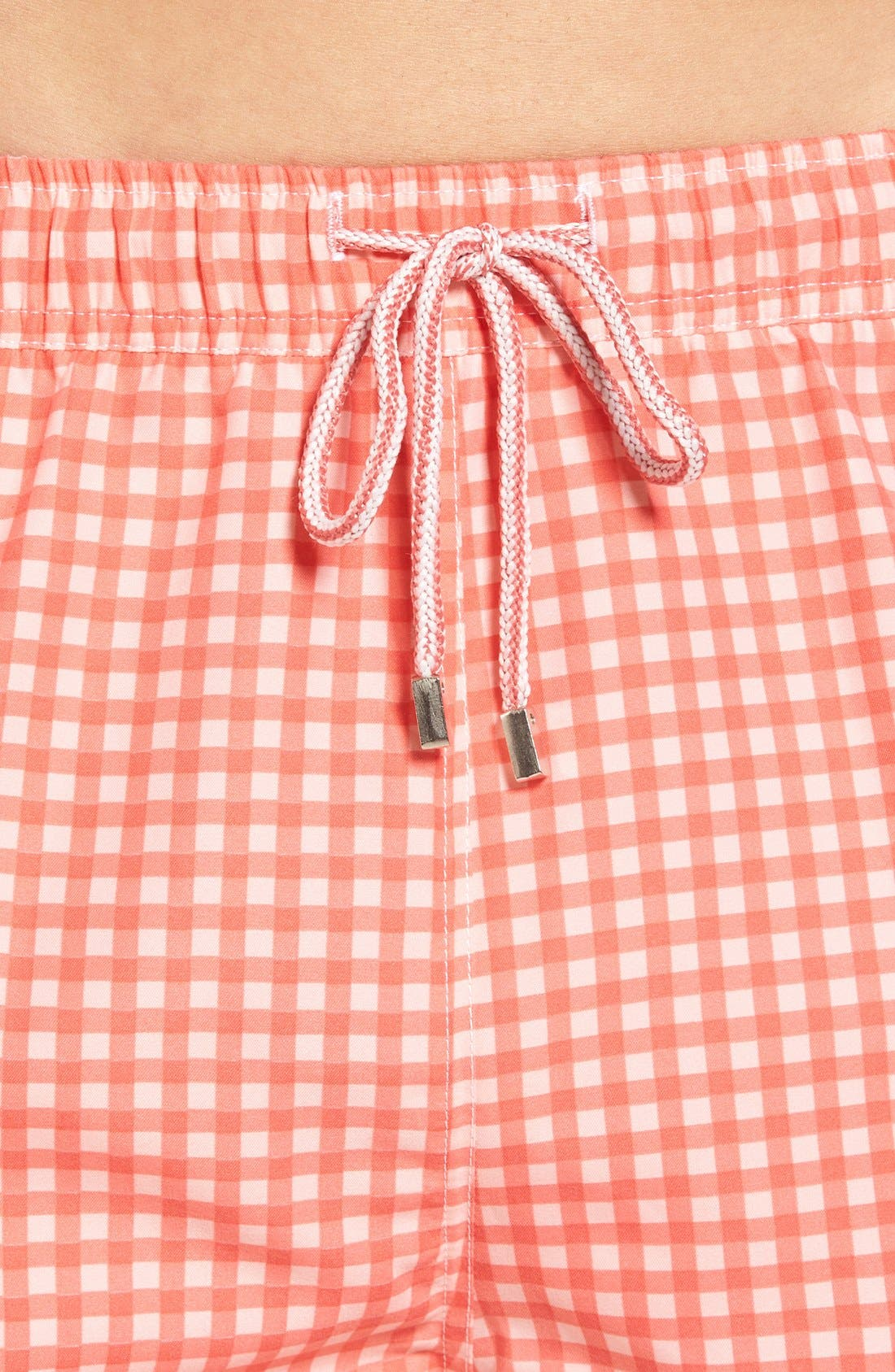 Alternate Image 4  - Peter Millar Gingham Swim Trunks