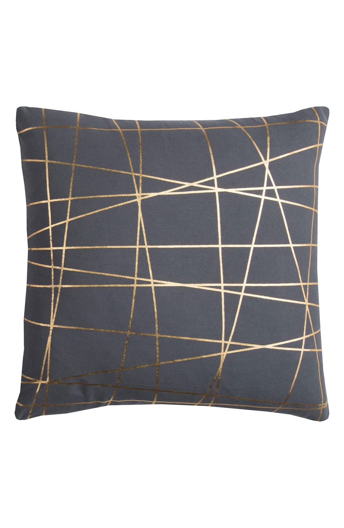 Metallic Lines Accent Pillow,                             Main thumbnail 1, color,                             Grey/ Gold