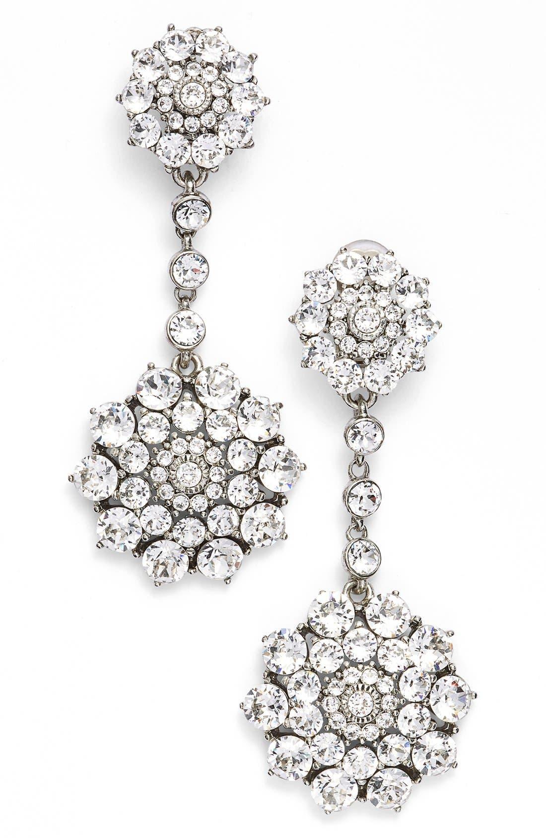 Main Image - Oscar de la Renta 'Classic Jeweled' Swarovski Crystal Drop Earrings