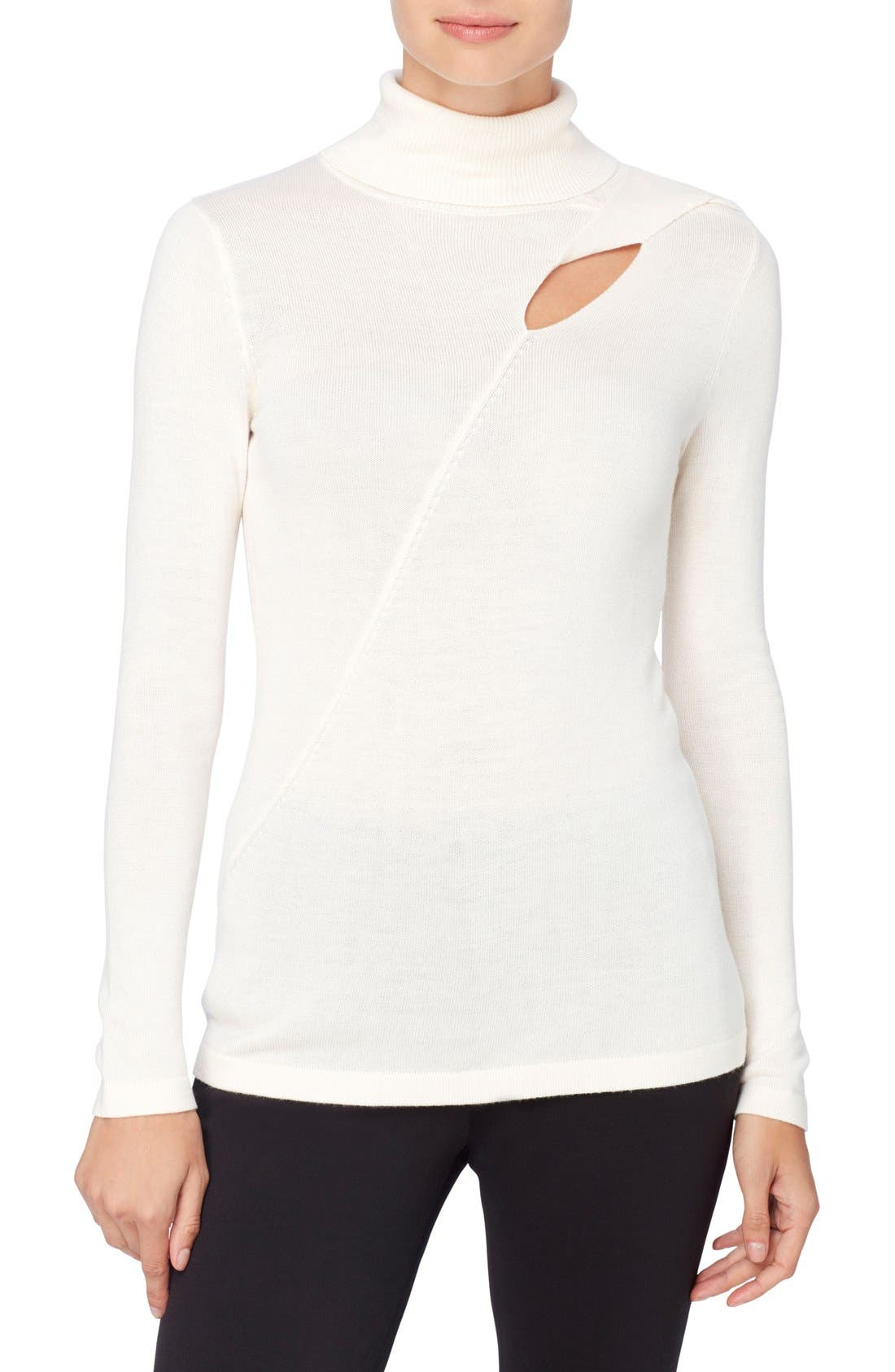 Catherine Catherine Malandrino Dessie Cutout Turtleneck Sweater