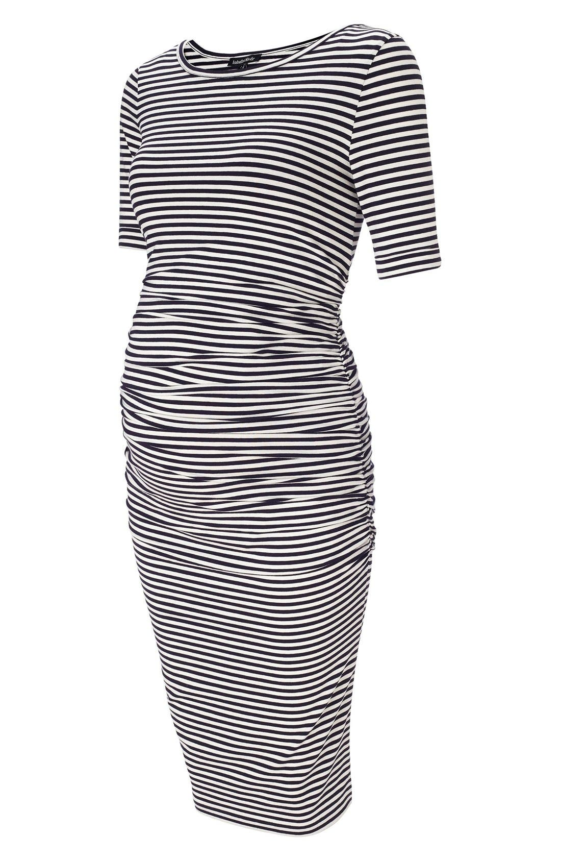 Alternate Image 1 Selected - Isabella Oliver Arlington Stripe Maternity Dress
