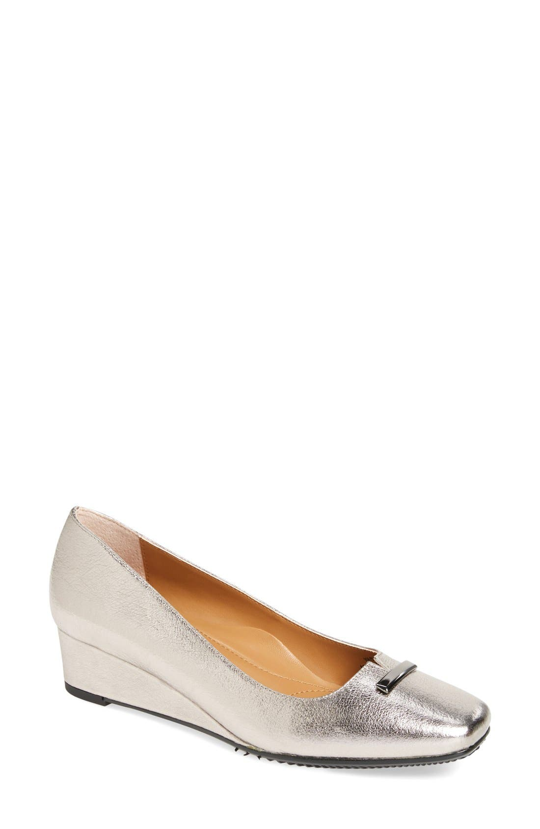 J. Reneé Yarall Square Toe Wedge (Women)