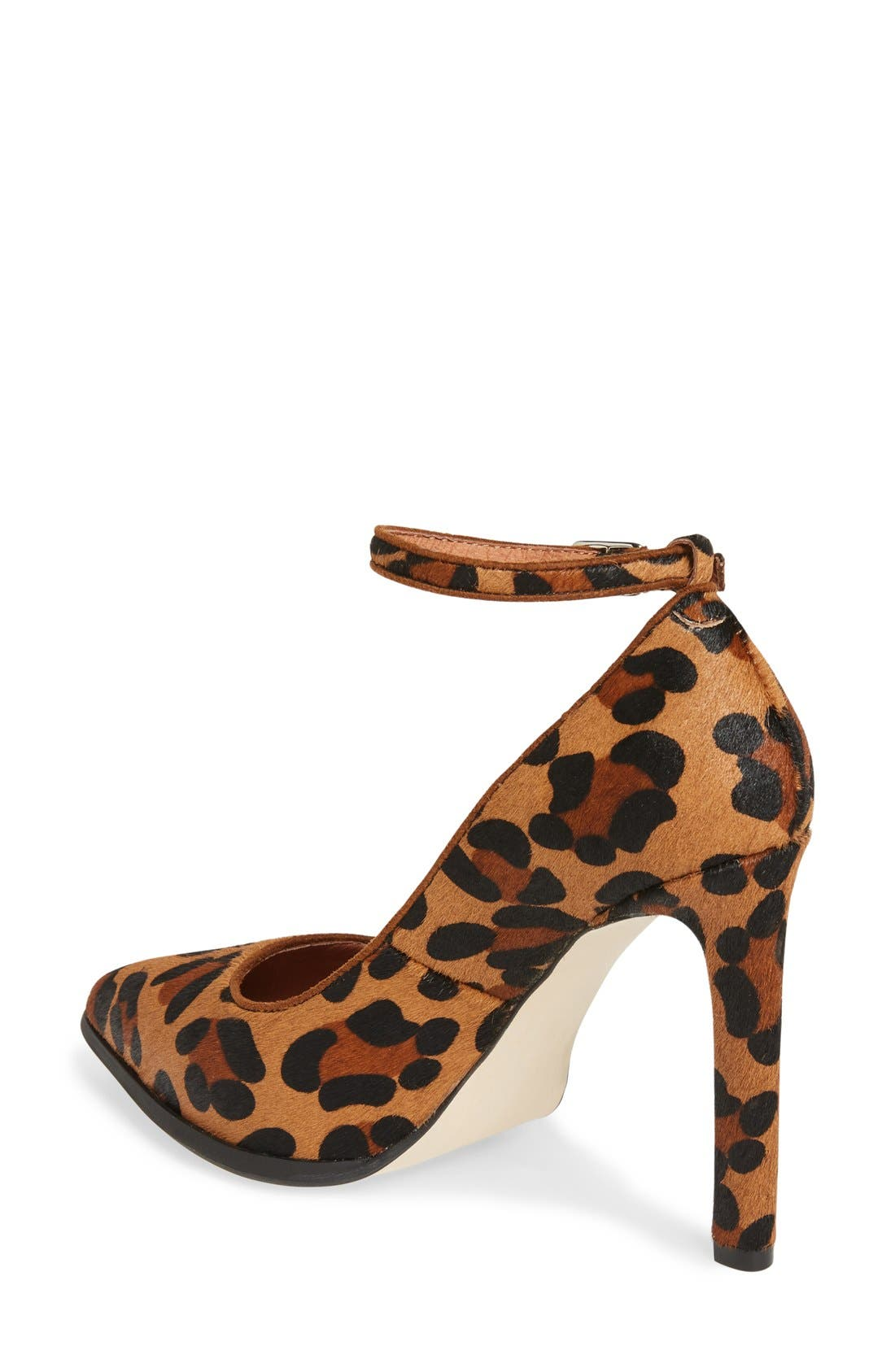 Lentine Ankle Strap Pump,                             Alternate thumbnail 2, color,                             Brown Leopard