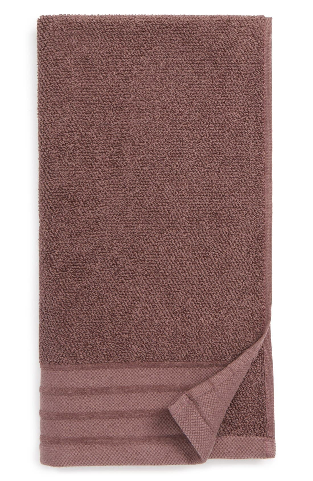Classic Luxe Hand Towel,                         Main,                         color, Raisin