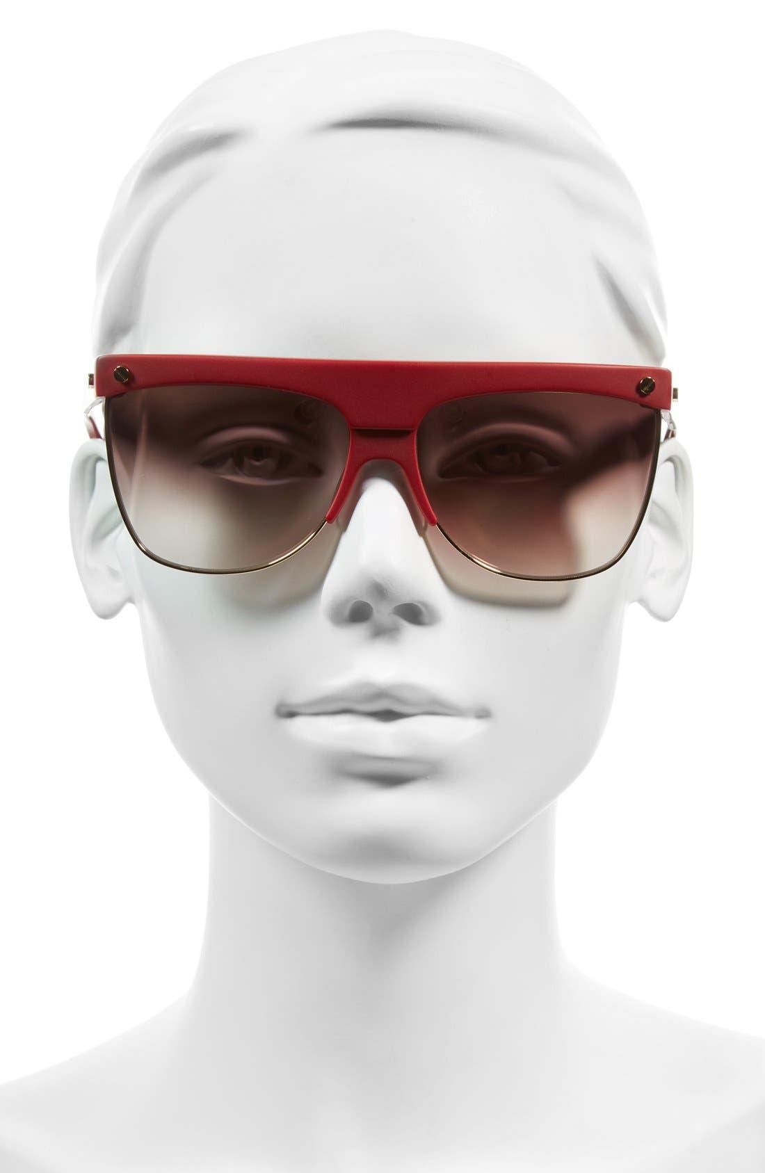 Alternate Image 2  - MCM 60mm Aviator Sunglasses