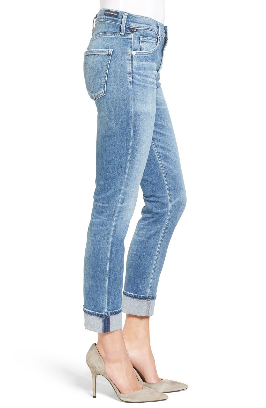 Jazmin Crop Straight Leg Jeans,                             Alternate thumbnail 3, color,                             Pacifica