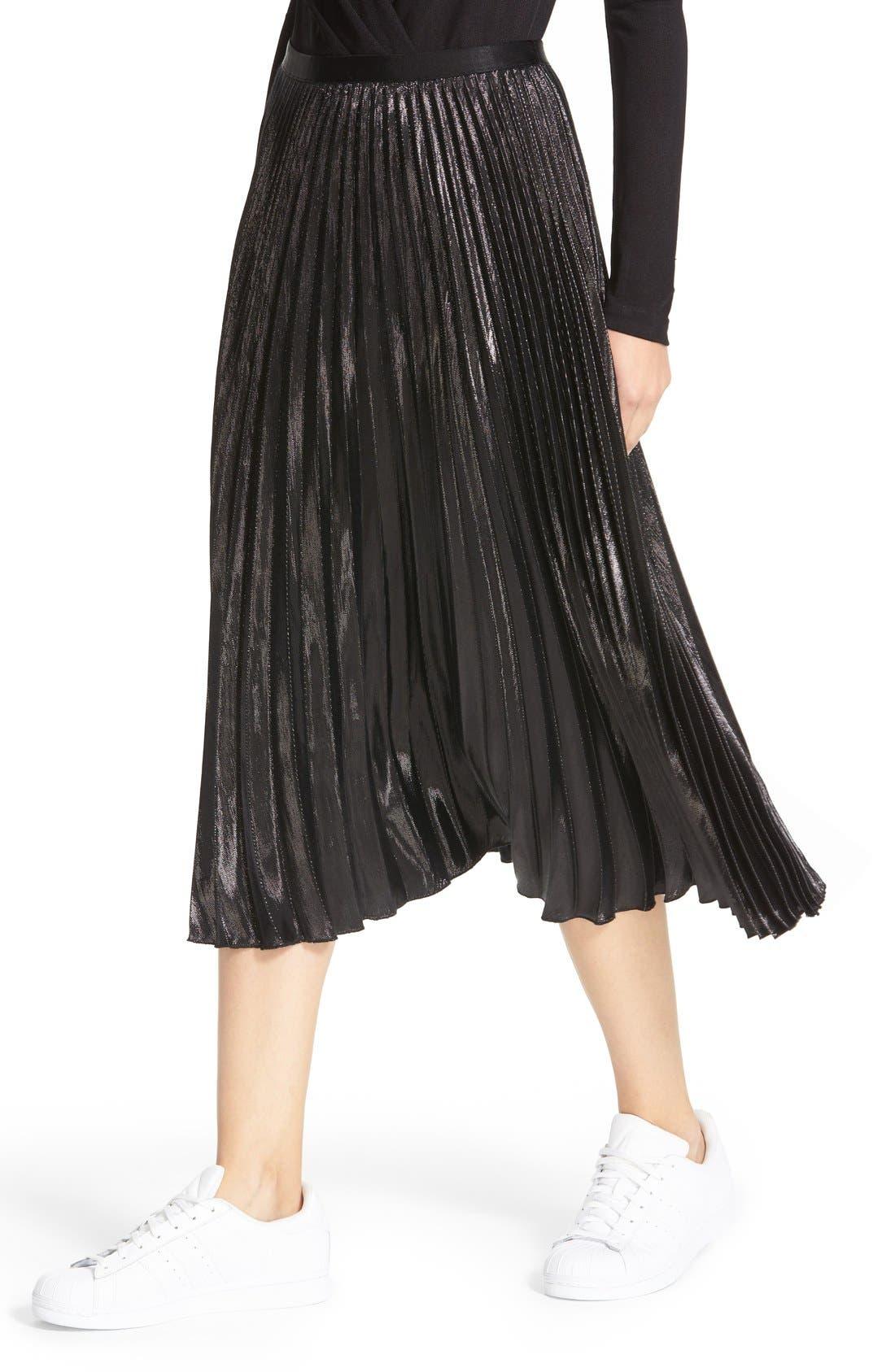 Alternate Image 5  - Diane von Furstenberg Heavyn Metallic Pleated Midi Skirt