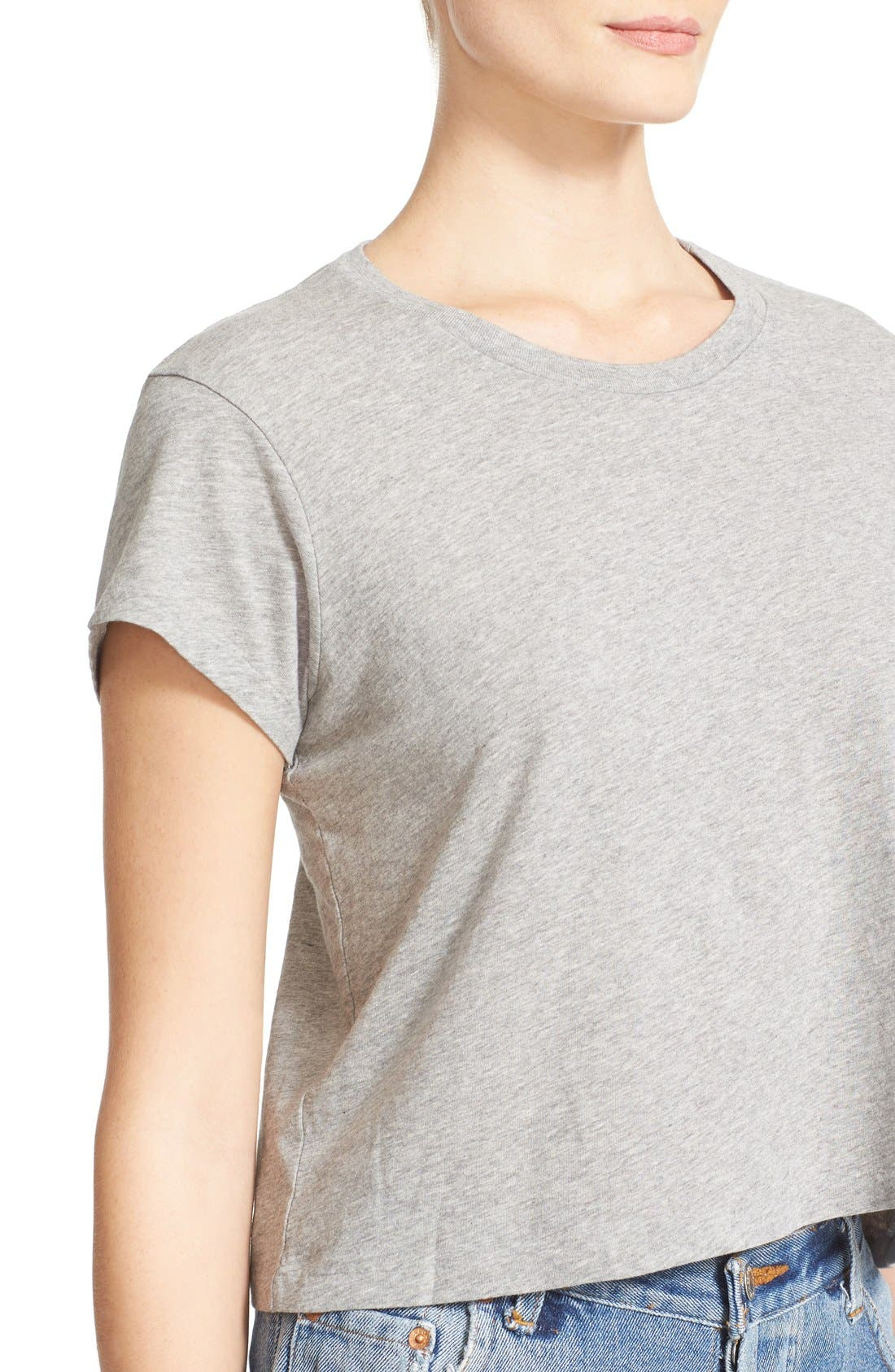 1950s Boxy Tee,                             Alternate thumbnail 4, color,                             Heather