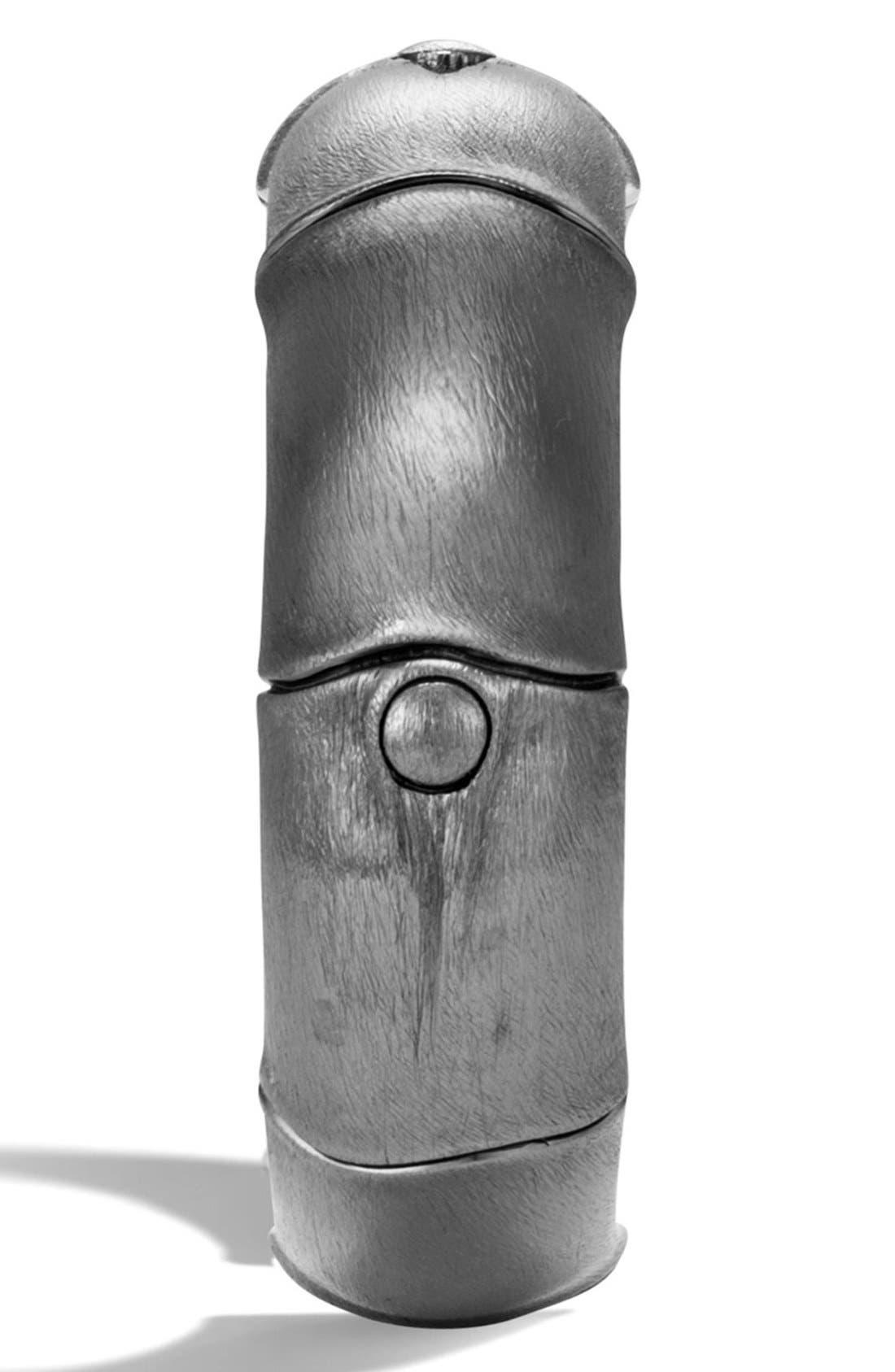 Bamboo Hinge Cuff,                             Alternate thumbnail 3, color,                             Silver
