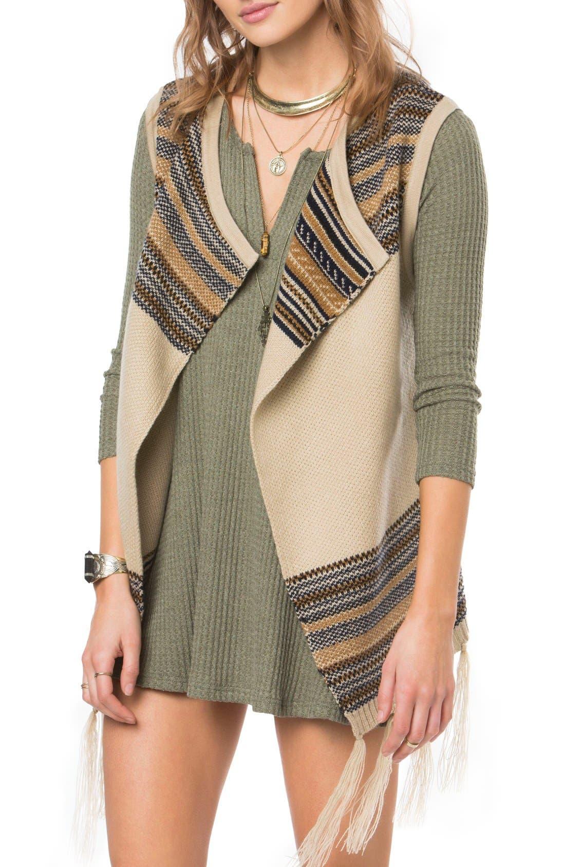Alternate Image 1 Selected - O'Neill Pfeiffer Stripe Knit Vest