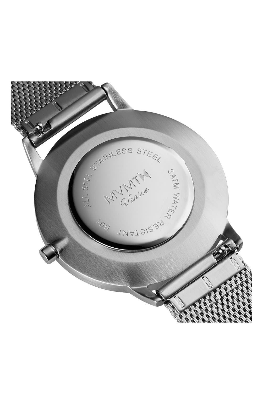 Alternate Image 3  - MVMT Boulevard Mesh Strap Watch, 38mm