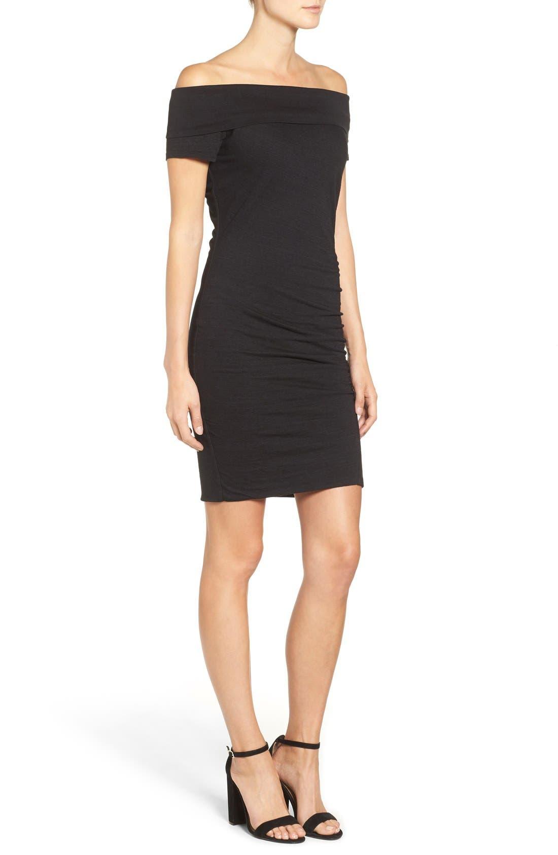 Alternate Image 3  - Pam & Gela Off the Shoulder Body-Con Dress