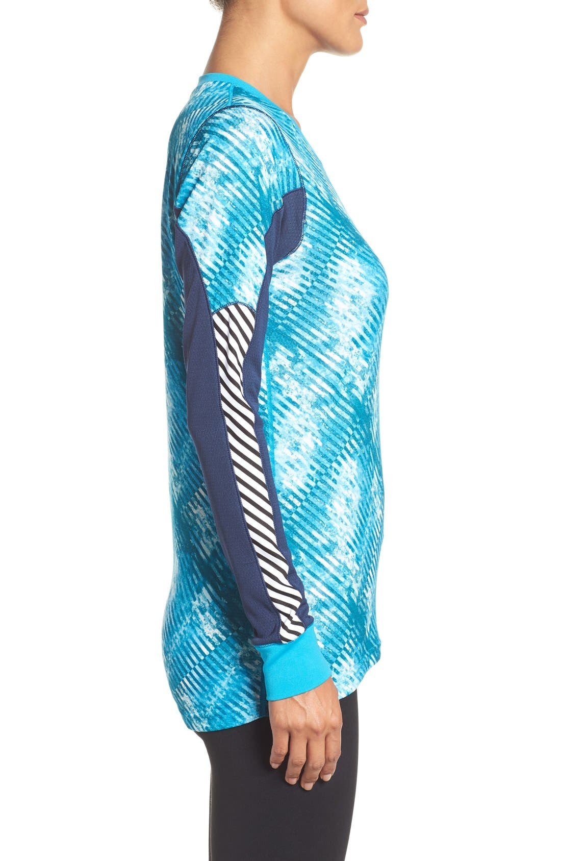 Active Flow Graphic Top,                             Alternate thumbnail 3, color,                             Winter Aqua
