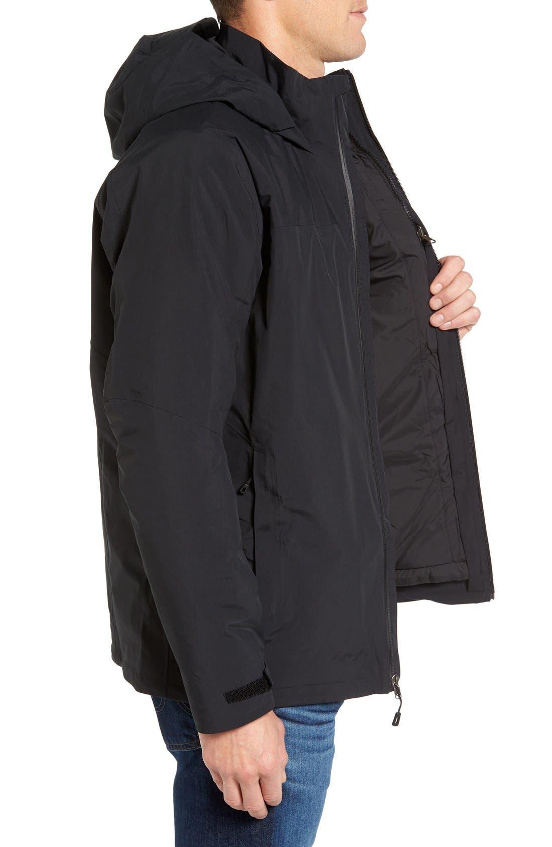 Windsweep 3-in-1 Jacket,                             Alternate thumbnail 3, color,                             Black
