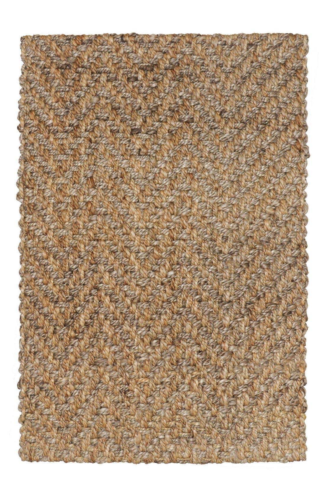 Herringbone Handwoven Rug,                         Main,                         color, Natural