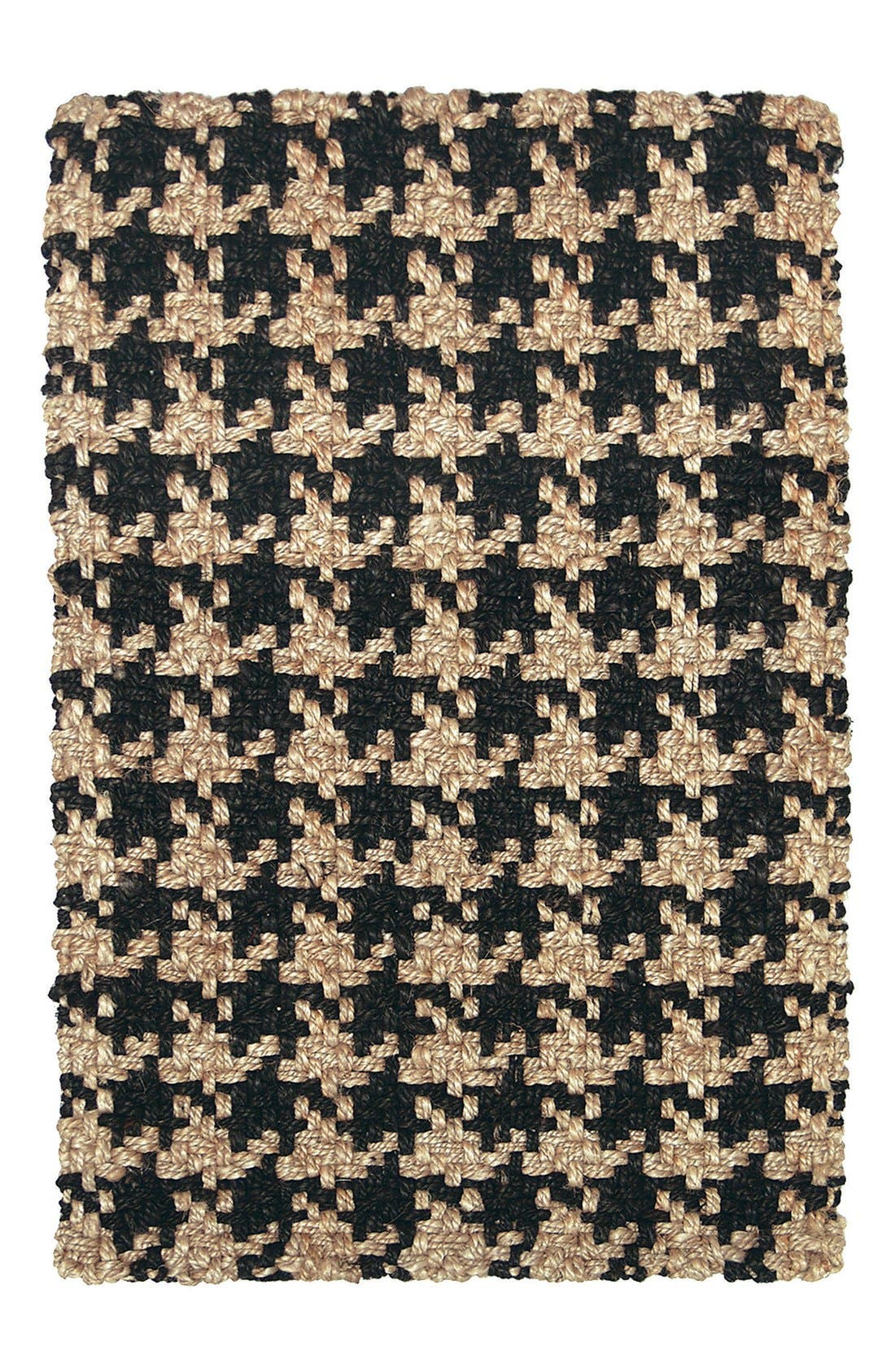 Houndstooth Rug,                         Main,                         color, Black
