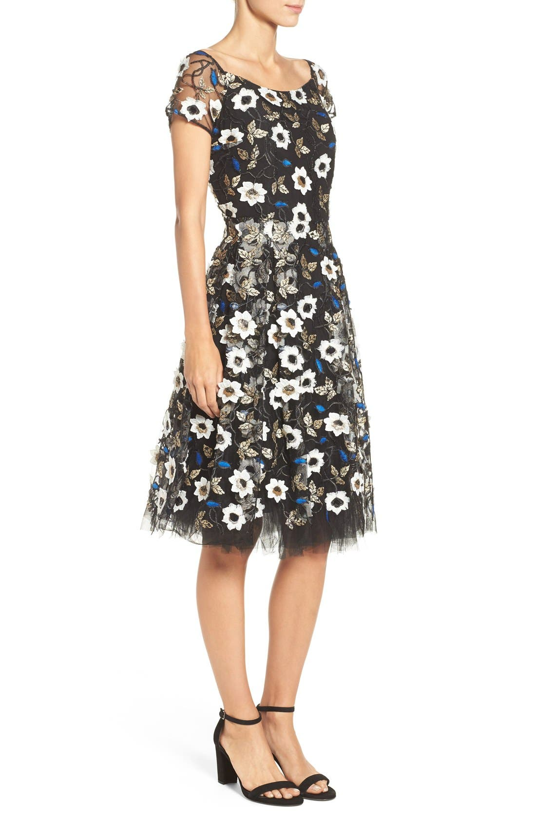 Alternate Image 3  - ECI Sequin Embroidered Fit & Flare Dress