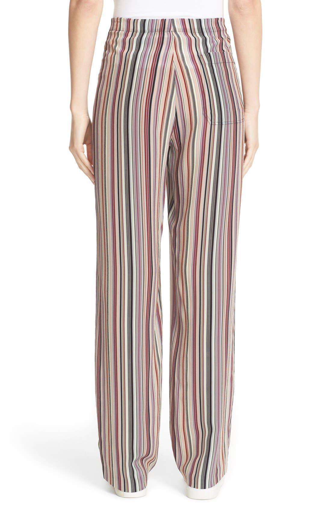 Alternate Image 2  - Theory Winszlee Stripe Silk Pants