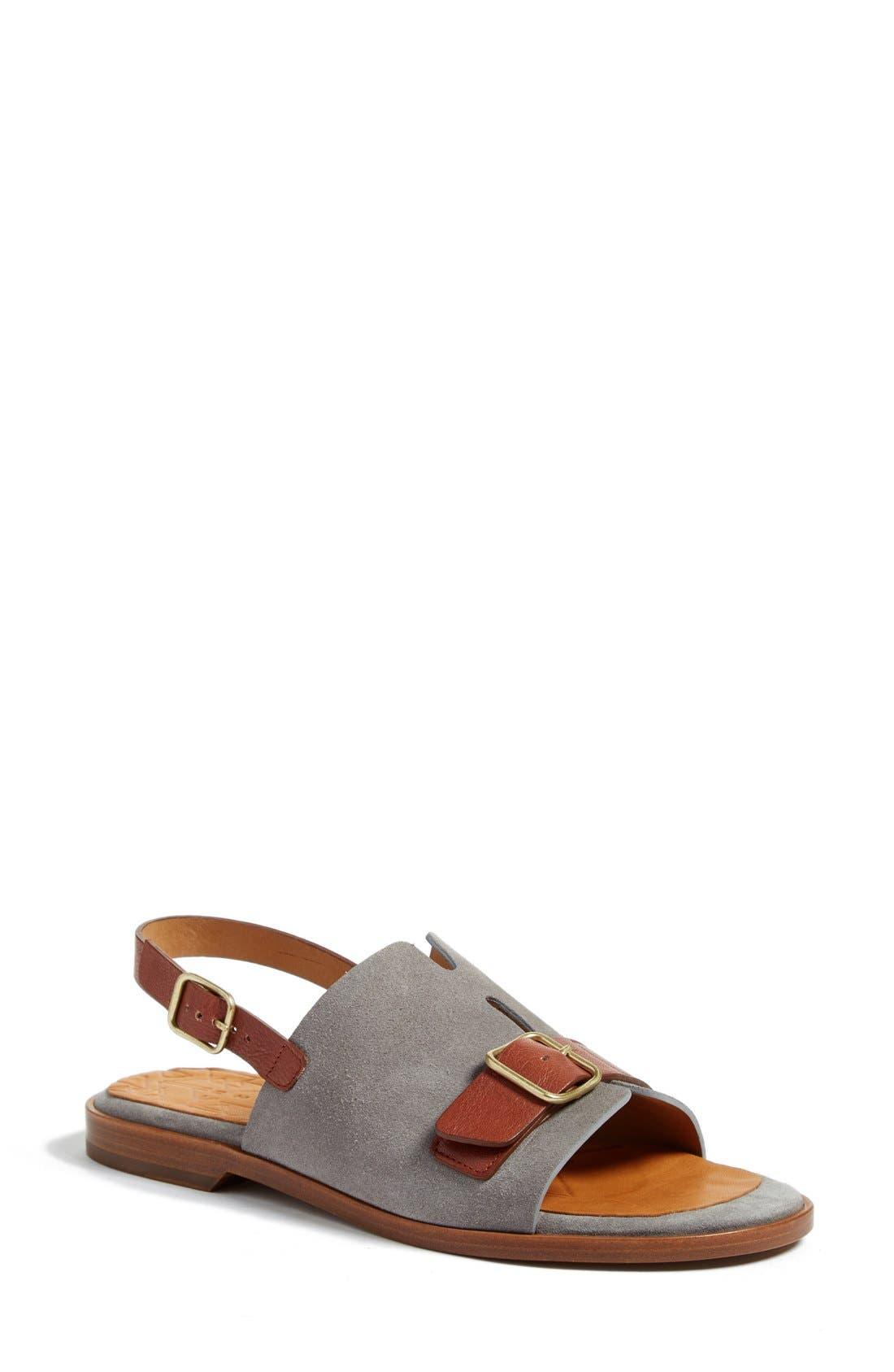 Querete Slingback Sandal,                             Main thumbnail 1, color,                             Stone/ Brown