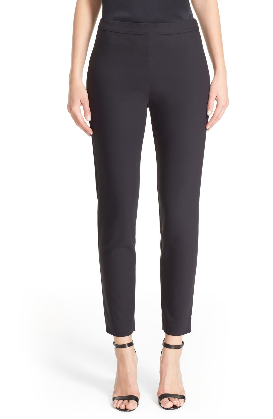 ST. JOHN COLLECTION Alexa Scuba Bi-Stretch Slim Crop Pants