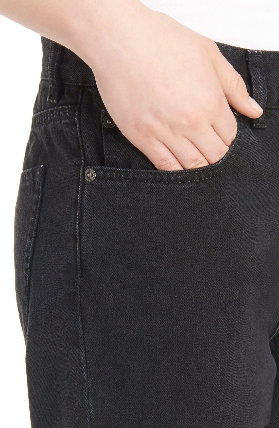 Boy Jeans,                             Alternate thumbnail 5, color,                             Black
