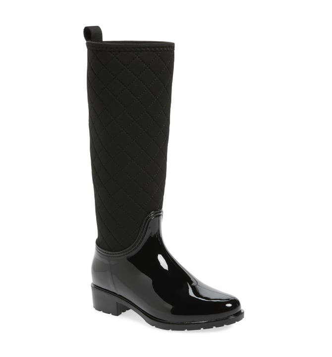 däv Parma Quilted Tall Waterproof Rain Boot (Women)   Nordstrom : quilted tall boots - Adamdwight.com