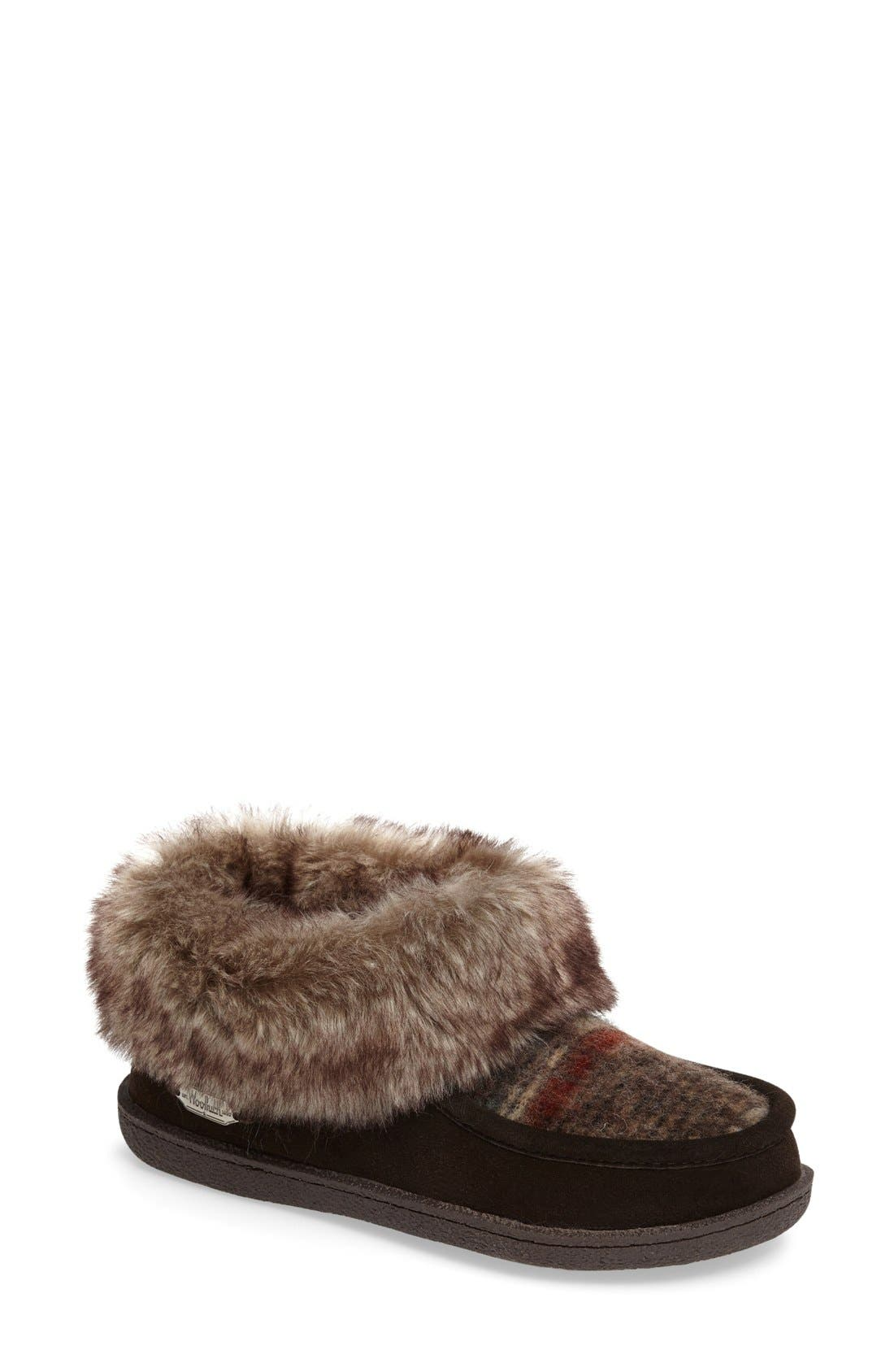 Autumn Ridge Slipper Bootie,                         Main,                         color, Java/ Blanket Wool