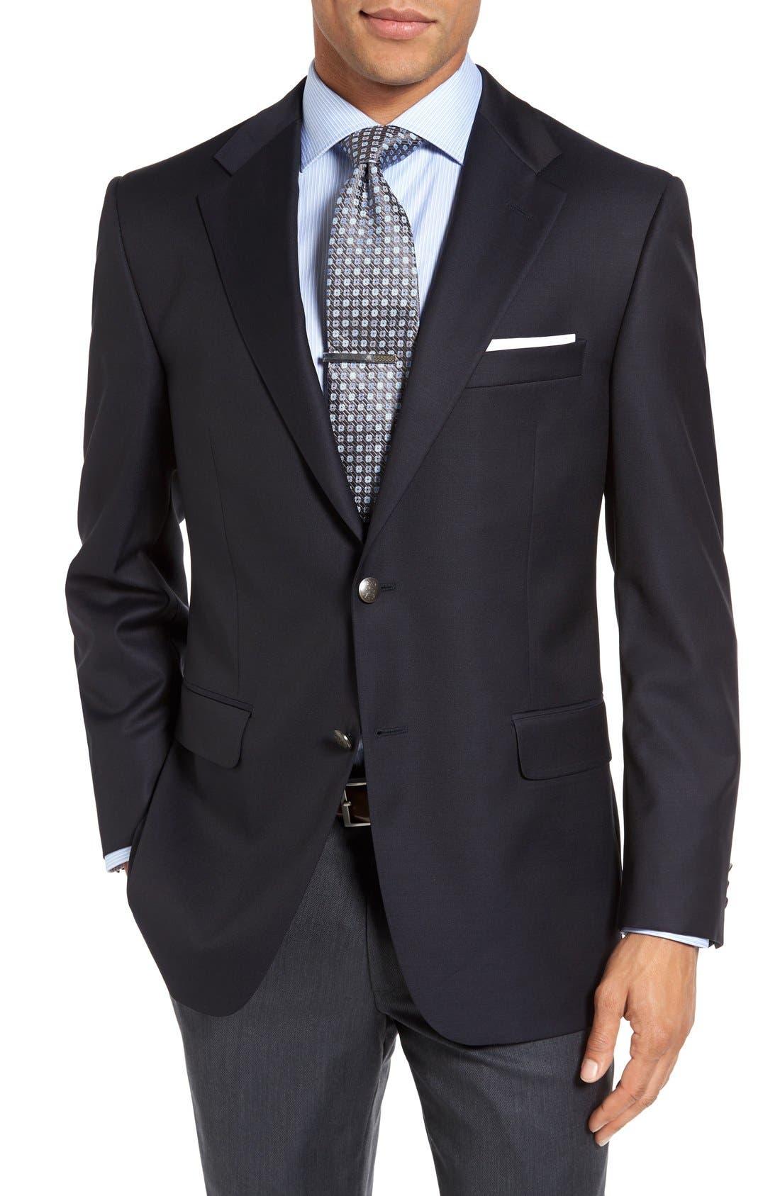 Main Image - Hickey Freeman Classic B Fit Wool Travel Blazer