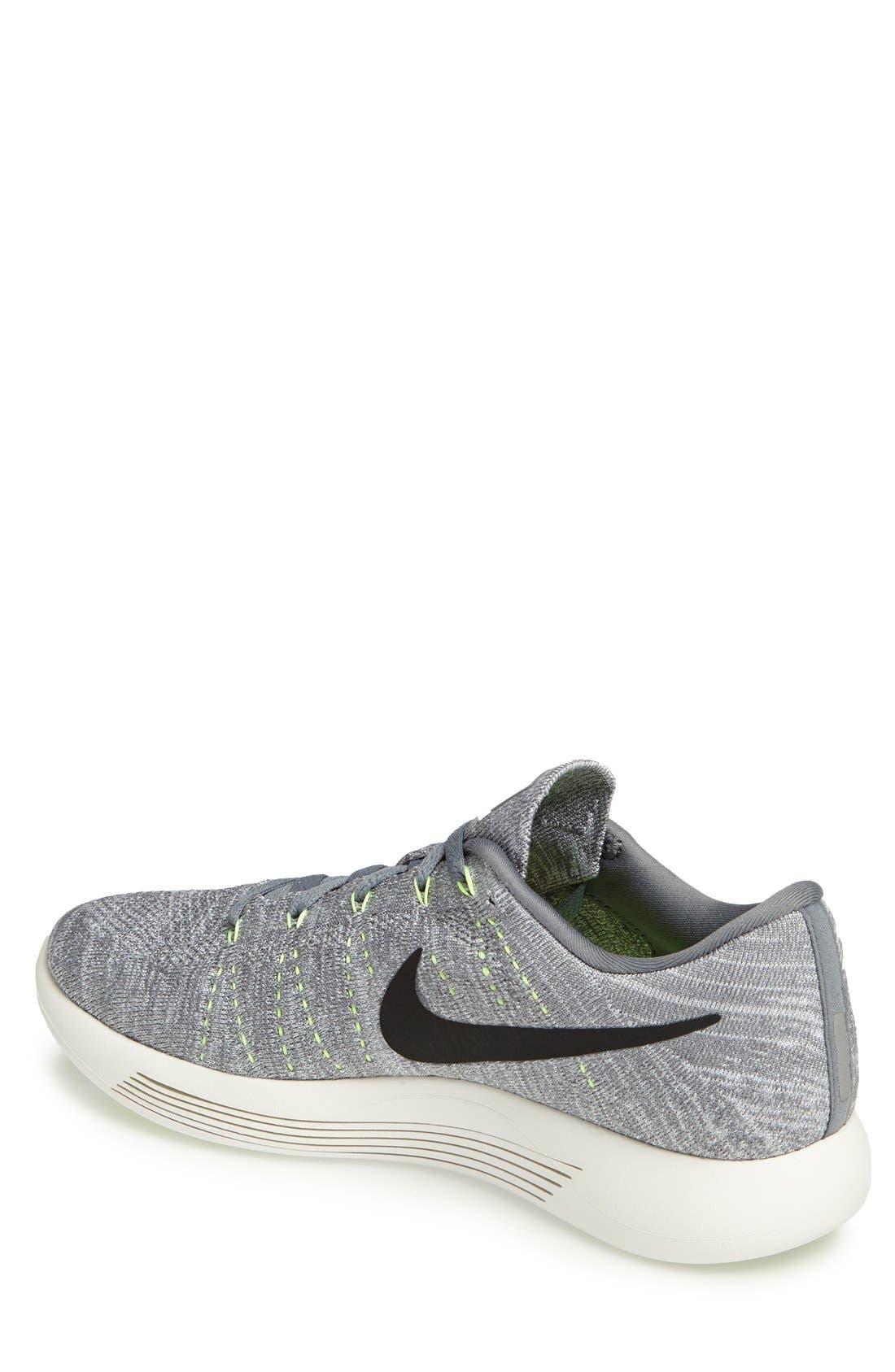 Alternate Image 2  - Nike 'LunarEpic Low Flyknit' Running Shoe (Men)