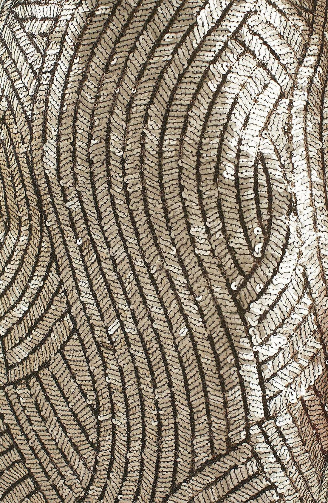 Psych Sequin Miniskirt,                             Alternate thumbnail 5, color,                             Gold Multi