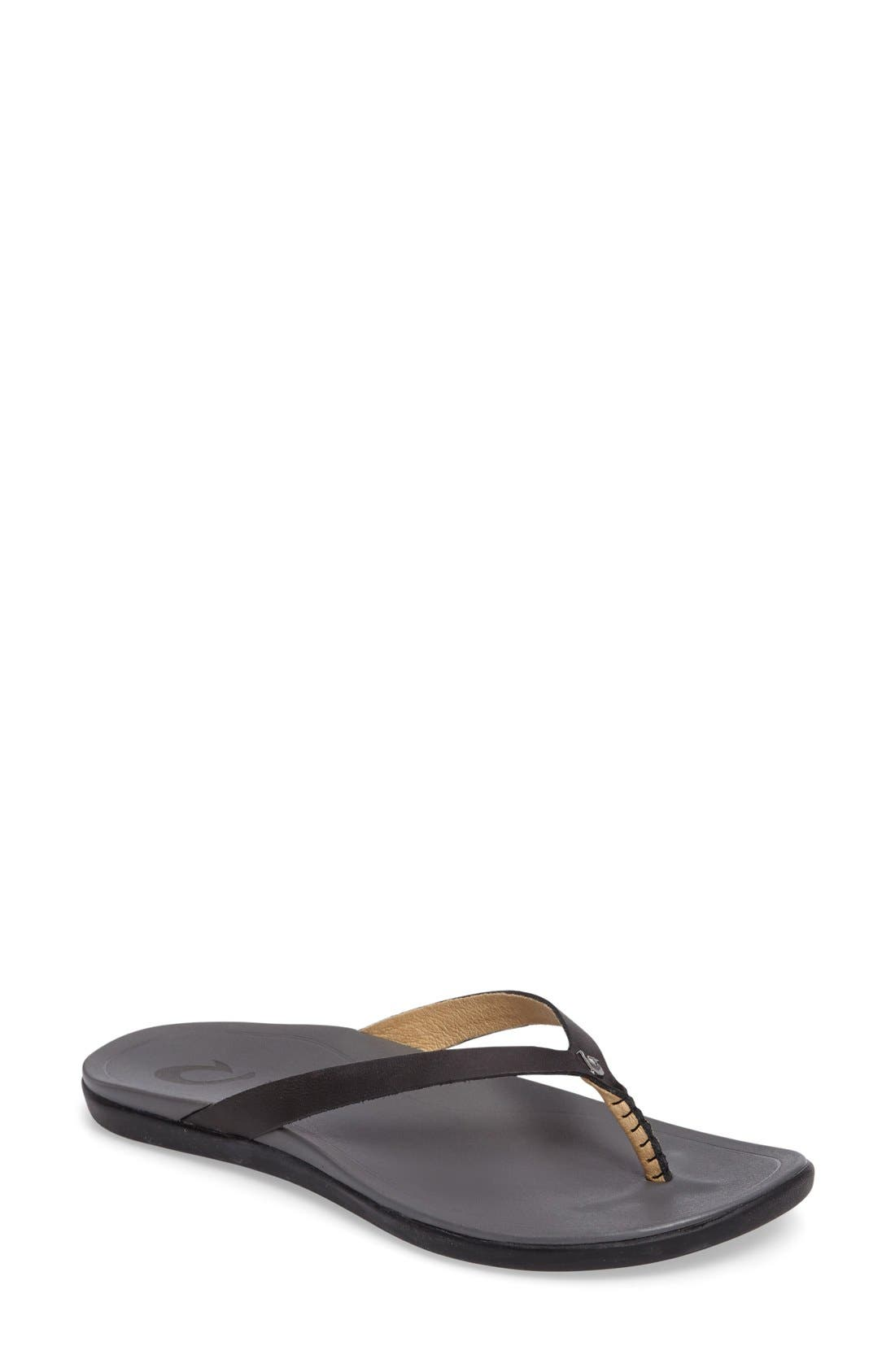 OluKai 'Ho Opio' Leather Flip Flop (Women)