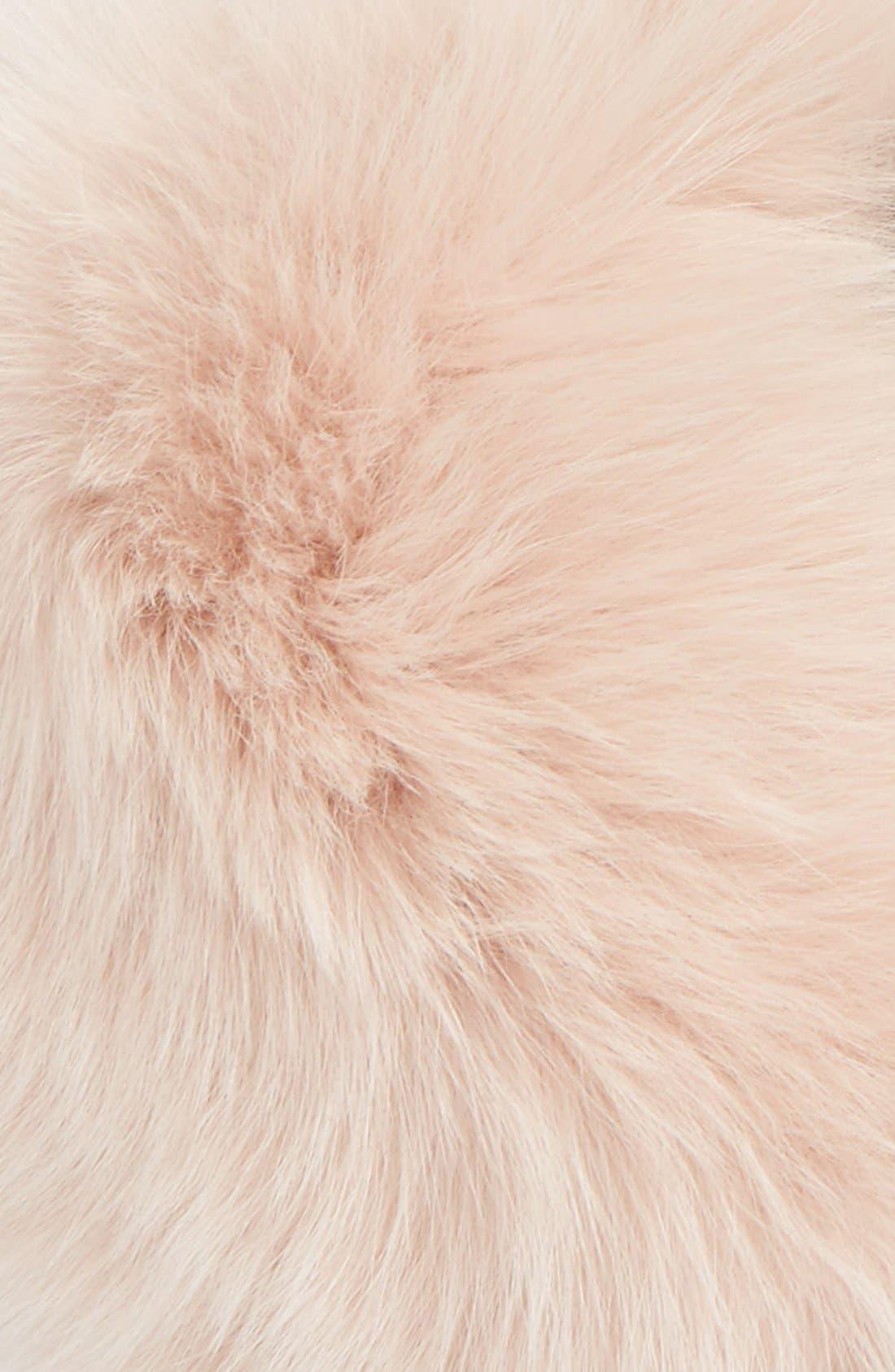 Genuine Fox Fur Collar,                             Alternate thumbnail 3, color,                             Ash Rose