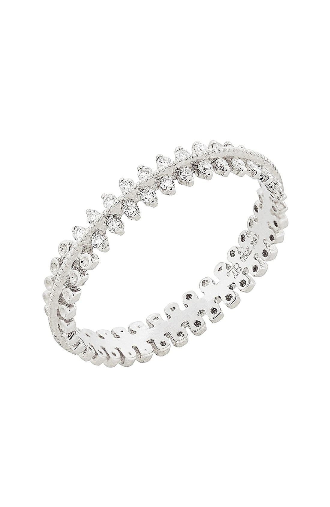 Main Image - Bony Levy Stackable Three Row Diamond Band Ring (Nordstrom Exclusive)