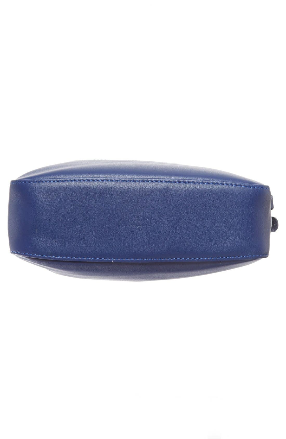 '2.0' Two-Tone Leather Crossbody Bag,                             Alternate thumbnail 5, color,                             Blue/ Navy