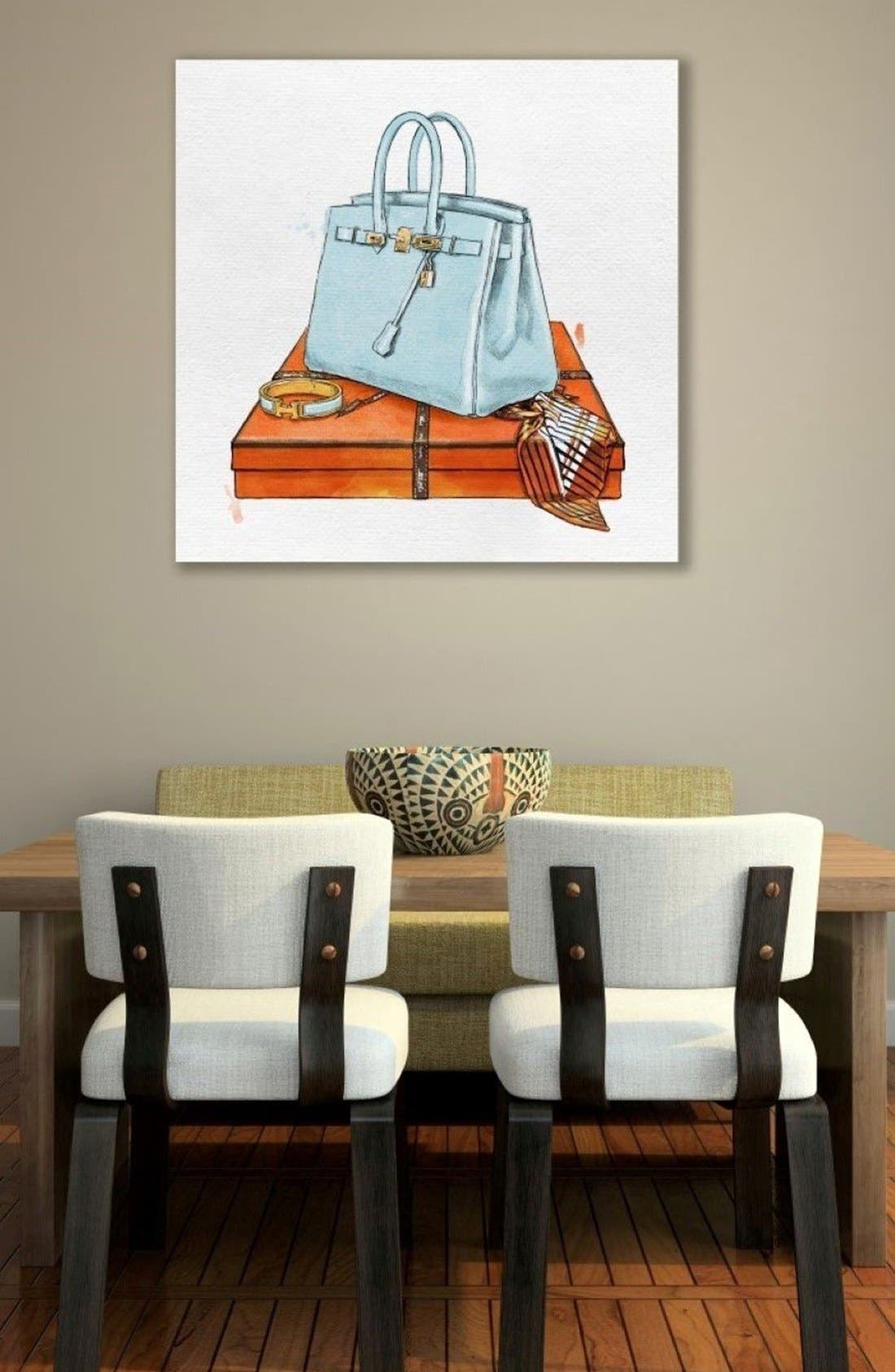 My Bag Collection I Canvas Print,                             Alternate thumbnail 2, color,                             Blue