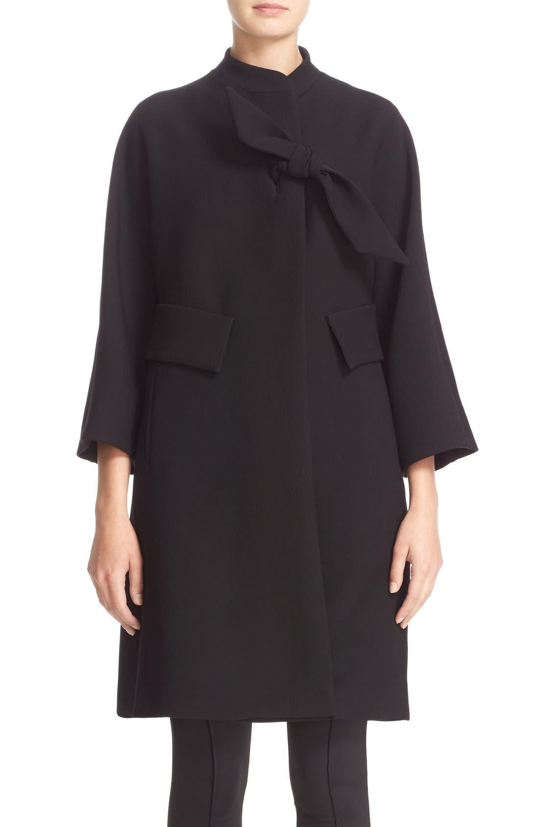 Main Image - Armani Collezioni Double Crepe Caban Jacket