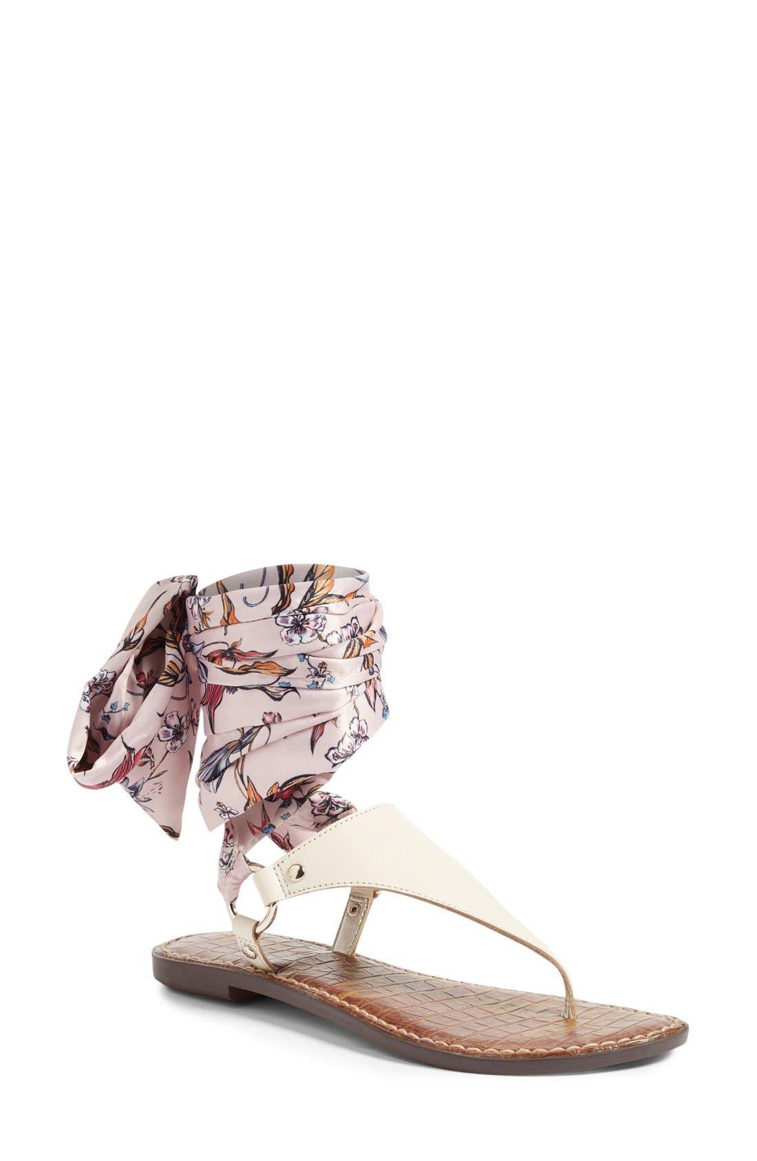 Alternate Image 1 Selected - Sam Edelman Giliana Ankle Tie Thong Sandal (Women)
