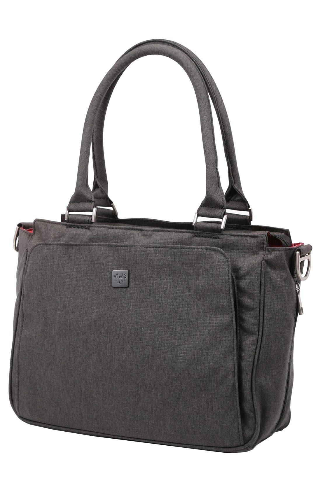 'Be Classy - Onyx Collection' Messenger Diaper Bag,                             Alternate thumbnail 5, color,                             Chrome