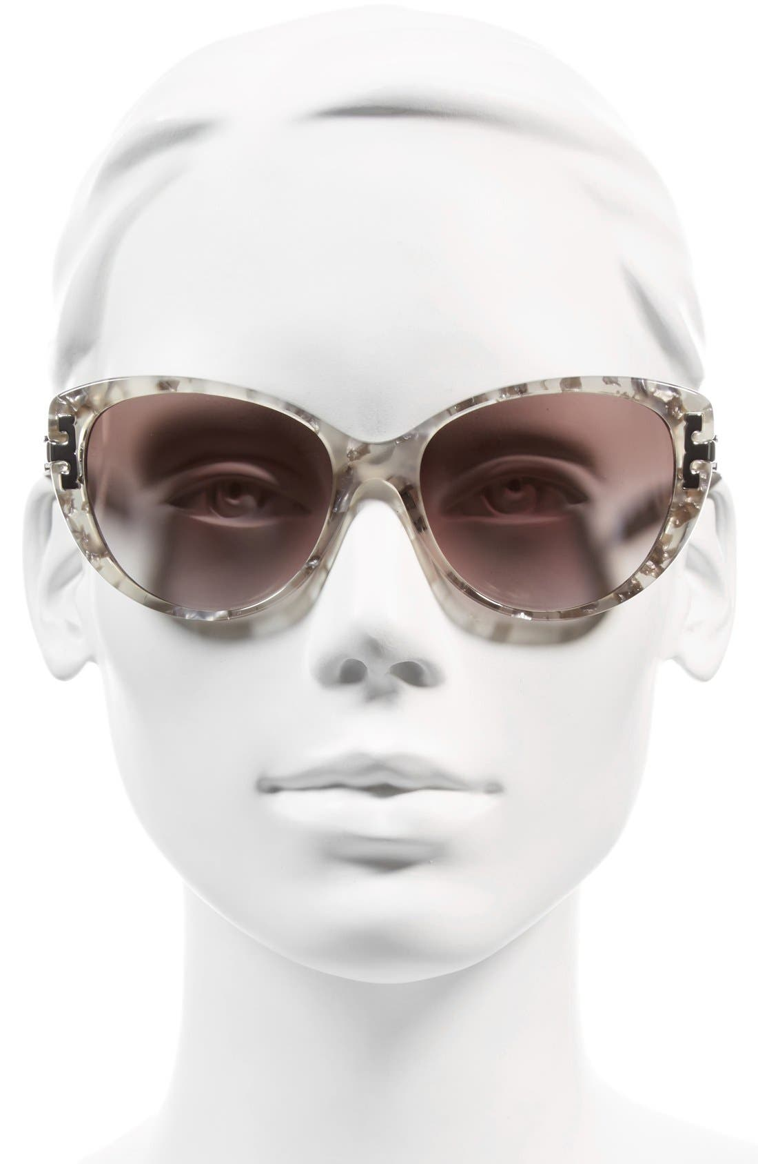 Alternate Image 2  - Tory Burch 56mm Cat Eye Sunglasses