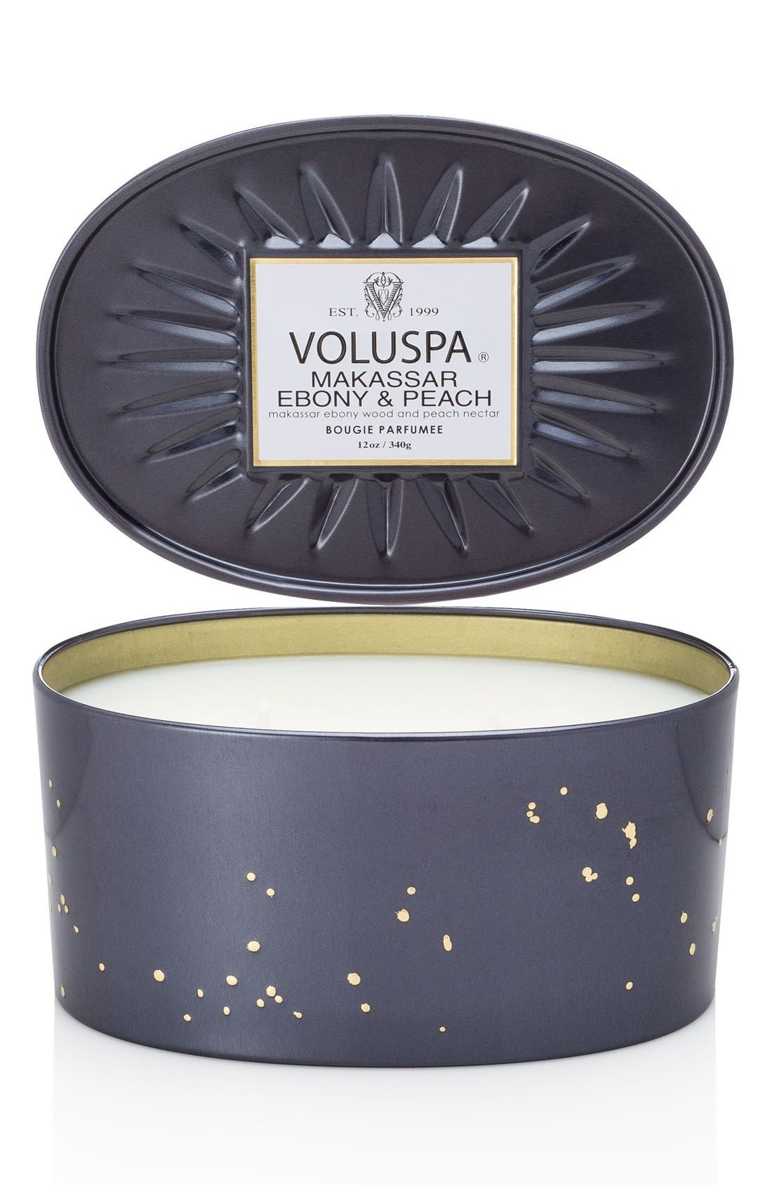 Voluspa 'Vermeil - Makassar Ebony & Peach' Two-Wick Candle