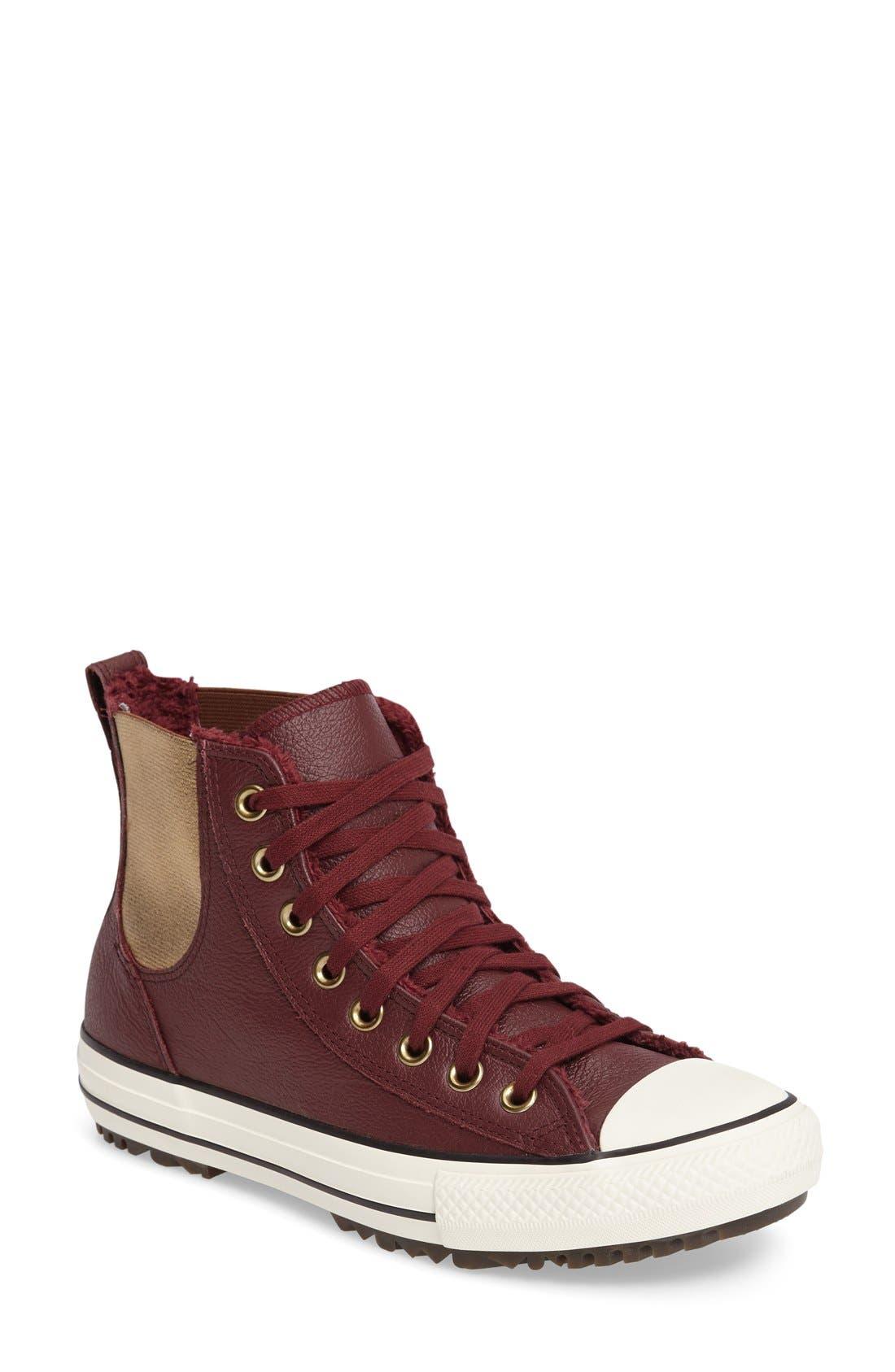 Main Image - Converse Chuck Taylor® All Star® Faux Fur Chelsea Sneaker (Women)
