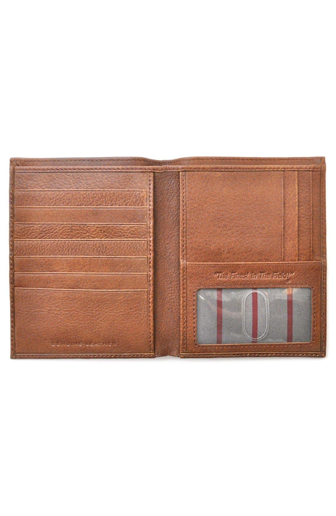 Triple Play Leather Executive Wallet,                             Alternate thumbnail 2, color,                             Cognac