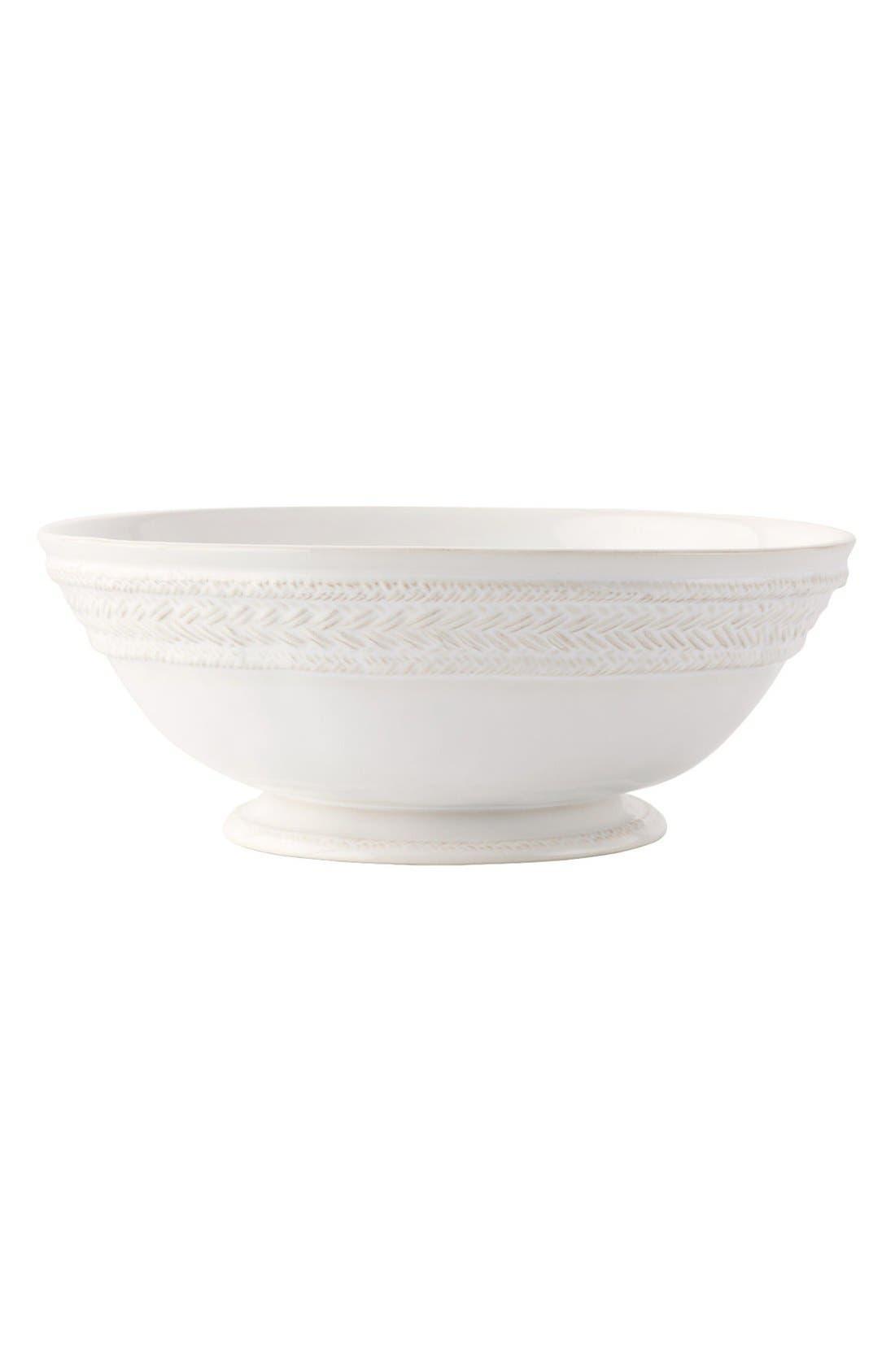 Le Panier Ceramic Fruit Bowl,                         Main,                         color, White