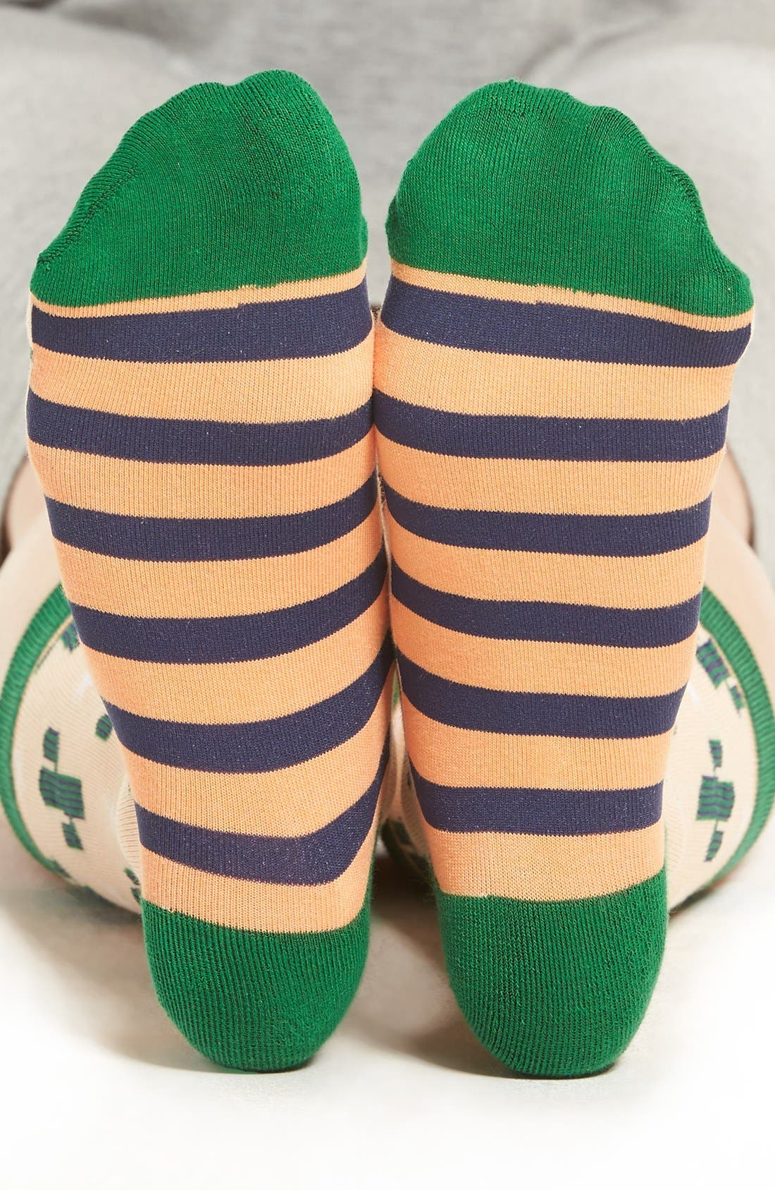 Alternate Image 2  - Woven Pear Cactus Crew Socks
