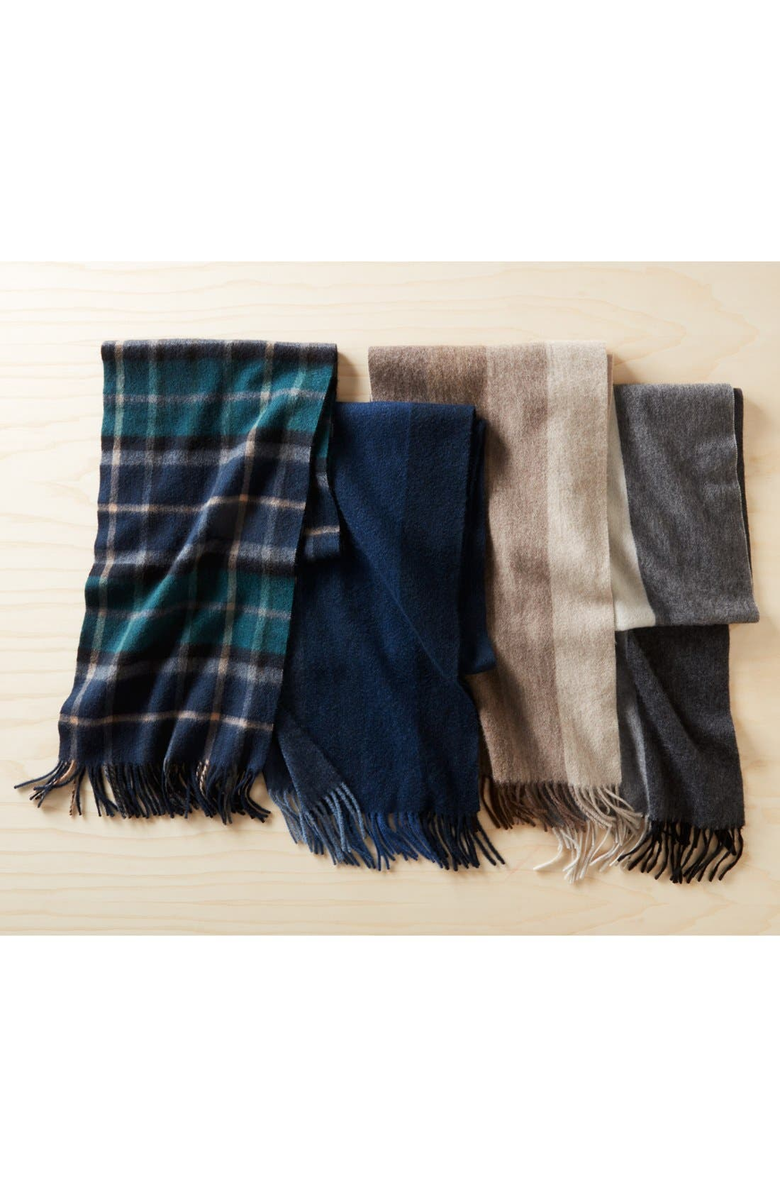 Plaid Cashmere Scarf,                             Alternate thumbnail 4, color,