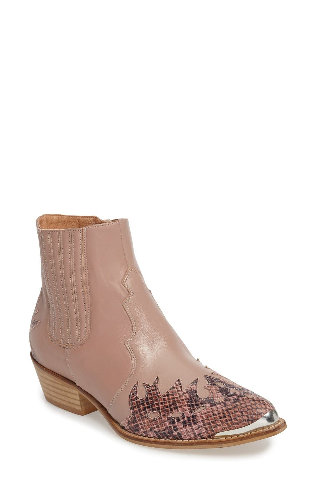 Alternate Image 1 Selected - Topshop 'Arson' Western Ankle Boots (Women)