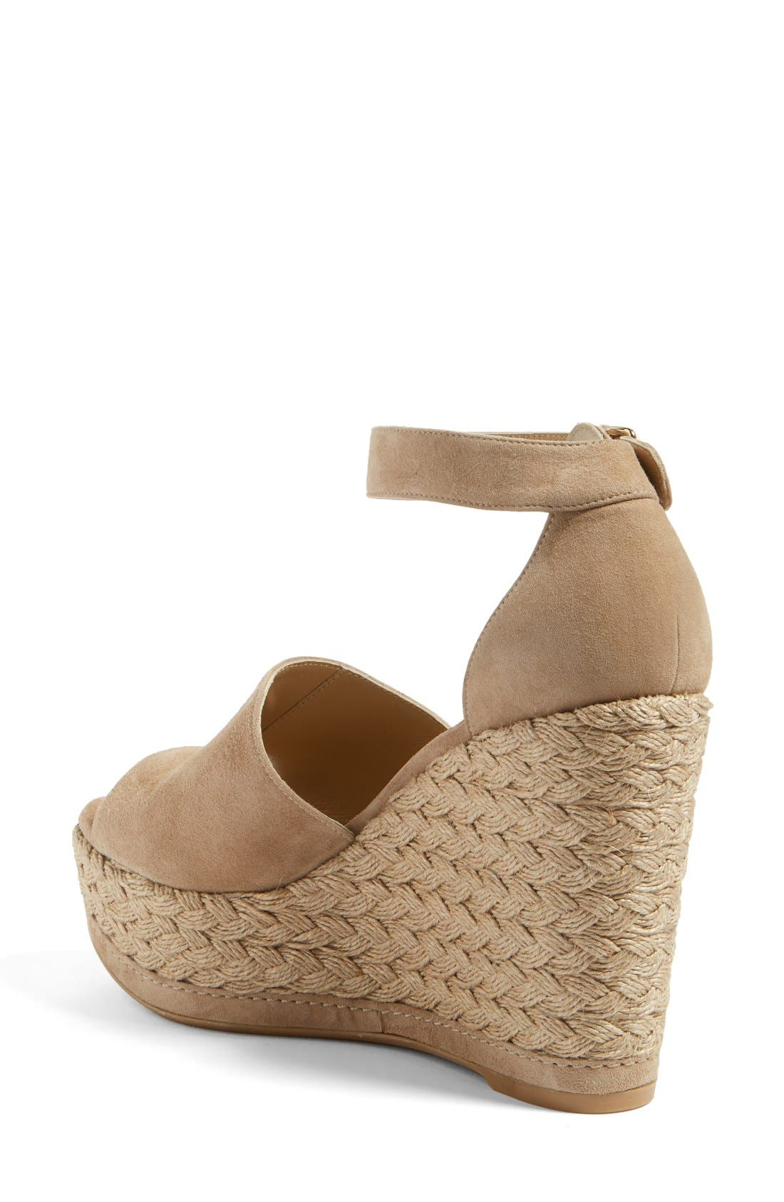 Sohojute Platform Wedge Sandal,                             Alternate thumbnail 2, color,                             Mojave Suede