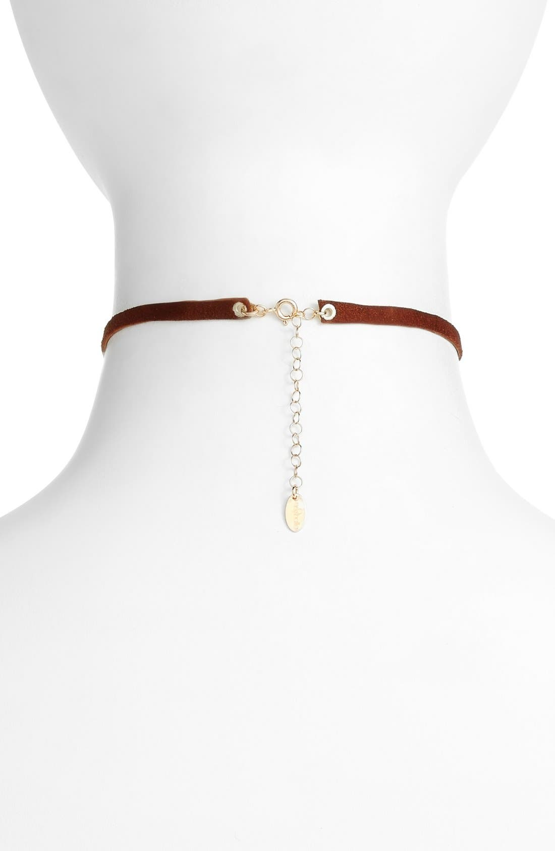 Alternate Image 2  - Nashelle Leather & Stone Choker
