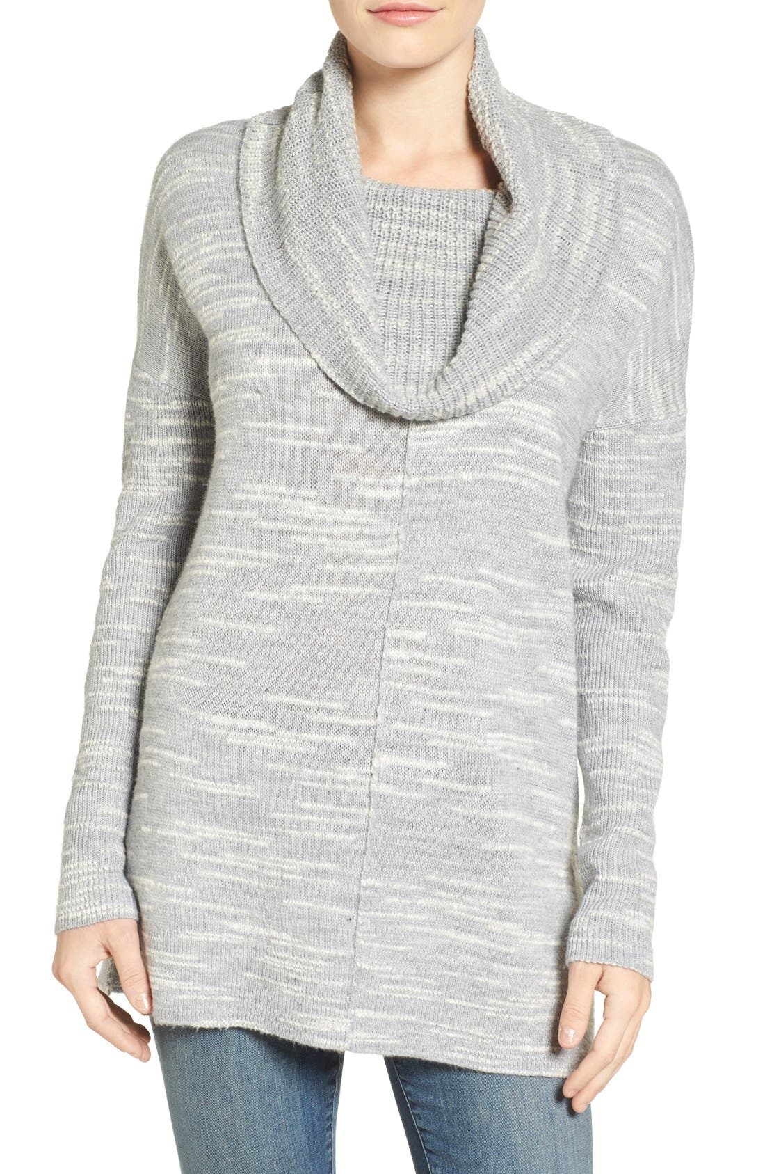 Main Image - Caslon® Side Slit Cowl Neck Tunic (Regular & Petite)